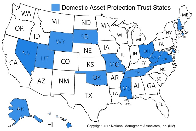 domestic asset protection trust states