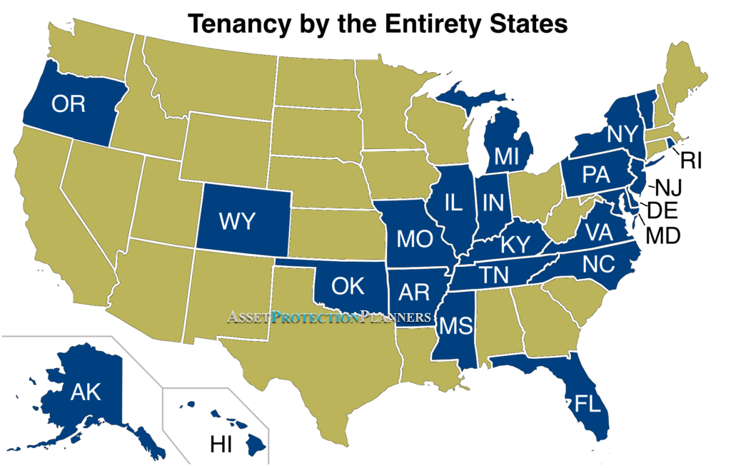Tenancy By The Entirety States