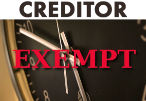 creditor exemptions