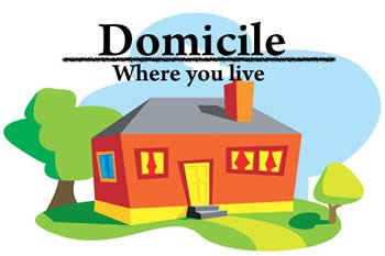 domicile where you live