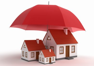 umbrella over house