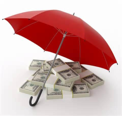 umbrella over cash