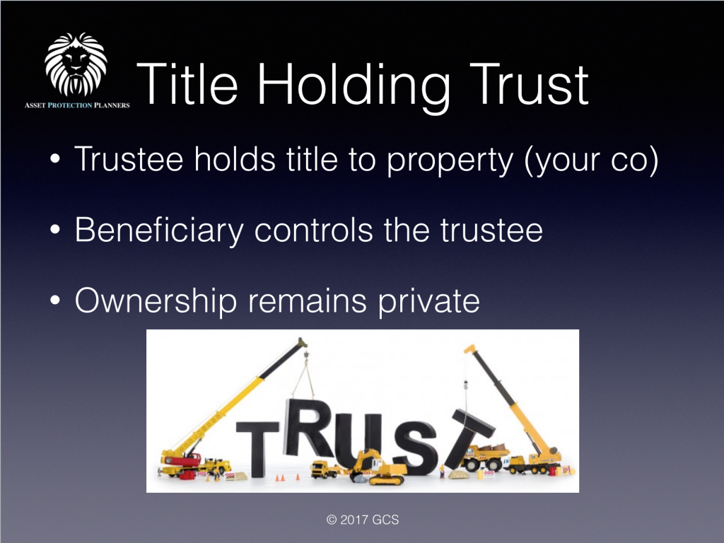 title holding trust